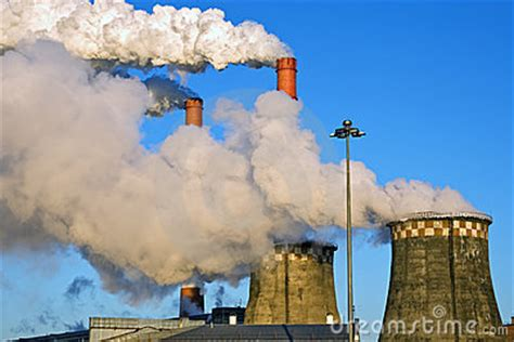 factory fumes royalty  stock image image