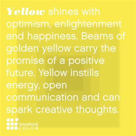 color yellow meaning meaning of the color yellow sensational color