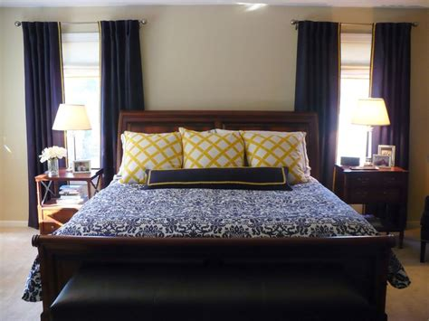 Yellow And Blue Master Bedroom by Navy And Yellow Master Bedroom Barrickman Design