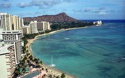 Hawaii Diamond Waikiki Head Beach Wallpapers Crater