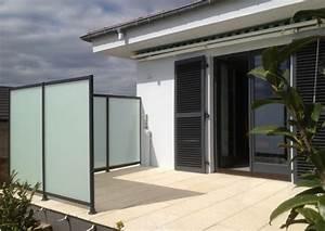 Brise Vue Opaque : 20170415183615 brise vue en verre opaque pour terrasse ~ Premium-room.com Idées de Décoration