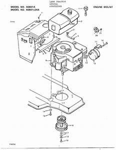 Engine Mount Diagram  U0026 Parts List For Model 40601a Murray