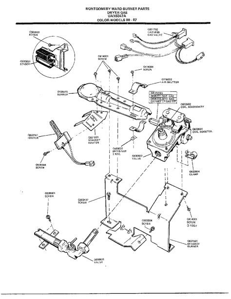 frigidaire gas dryer burner parts 8347a searspartsdirect