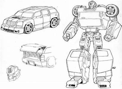 Soundwave Concept Transformers Classics Unused Figueroa Sketch
