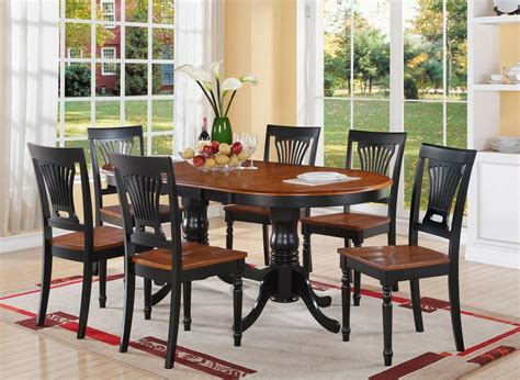 pc plainville oval double pedestal dining table  wood