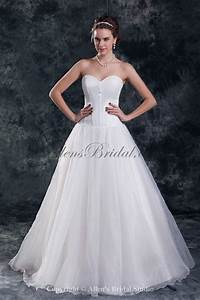 allens bridal organza sweetheart neckline floor length a With a line wedding dresses sweetheart neckline