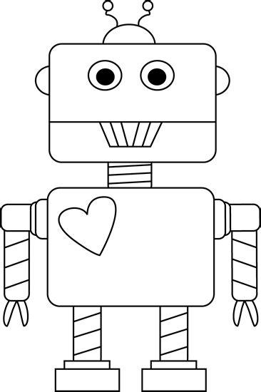 black  white valentines day robot printables