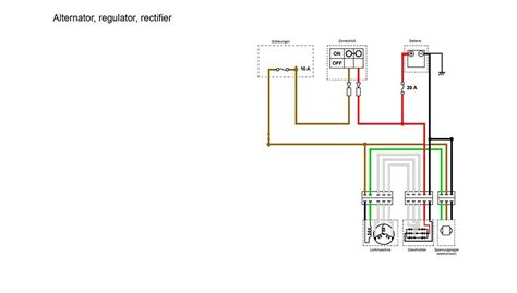Charging System Section The Simplified Wiring Diagram