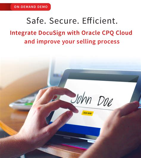 oracle cpq cloud demo oracle cpq cloud and docusign integration