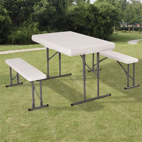 folding table with bench picnic folding bench portable cing table chair set