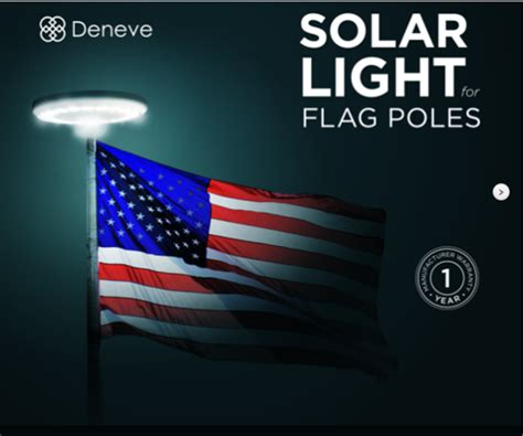 deneve solar powered led flagpole light semper fi fund
