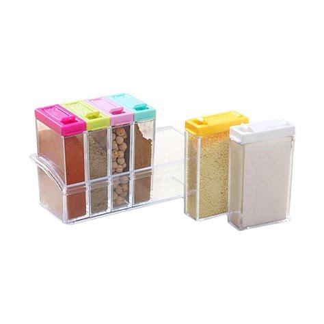 Lemari Tempat Bumbu Dapur jual miibox rak tempat bumbu dapur 6in1 seasoning box
