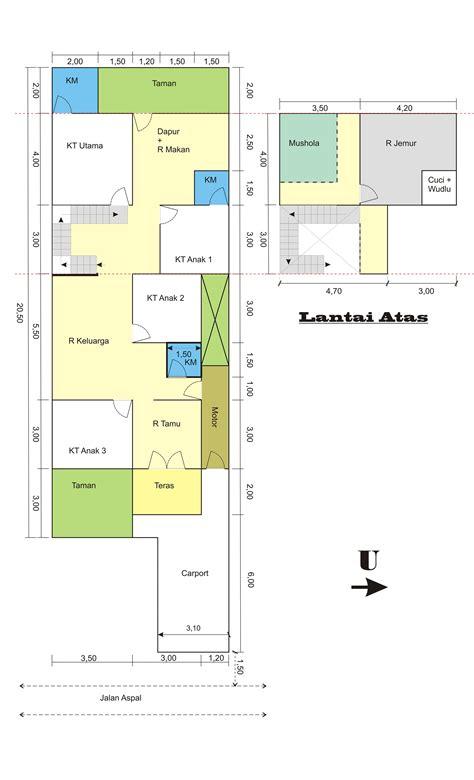 denah rumah minimalis  kamar ukuran  cat rumah minimalis