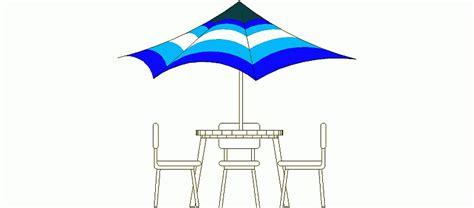 bloques autocad gratis de mesa jardin   sillas  sombrilla