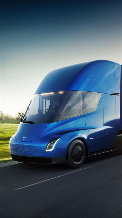 wallpaper tesla semi electric trucks