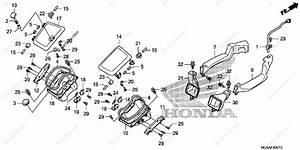 Honda Motorcycle 2006 Oem Parts Diagram For Air Duct
