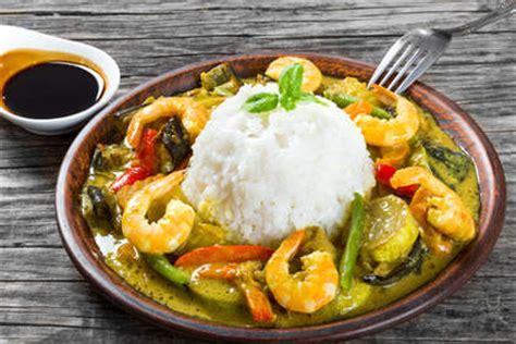 recette cuisine thailandaise traditionnelle recette curry vert de crevettes thaï