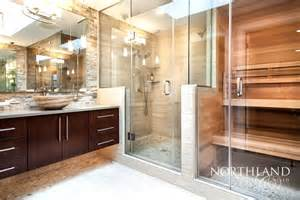 Small Bathroom Remodel Ideas On A Budget by Tigard Treehouse Sauna Oasis Northland Design Amp Build