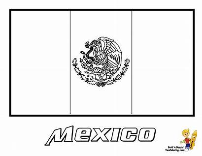 Flag Coloring Mexico Pages Yescoloring America