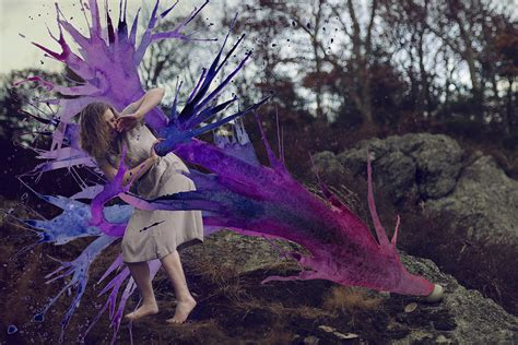 photographs  watercolors merge  surreal paintings