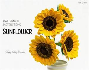 Crochet Sunflower Pattern Crochet Flower Pattern For Flower