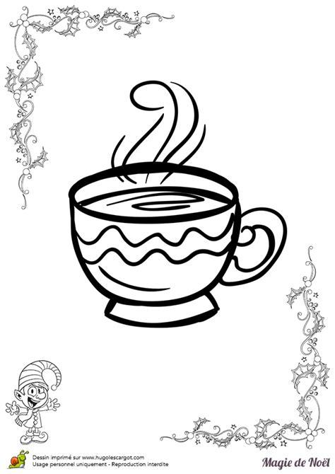 un jeu de cuisine coloriage magie de noël tasse chocolat chaud