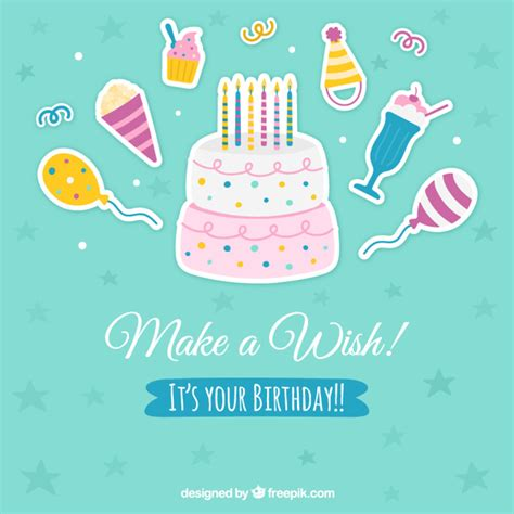 cute birthday background vector