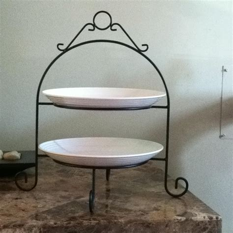 tier plate stand creative home   tier dinner