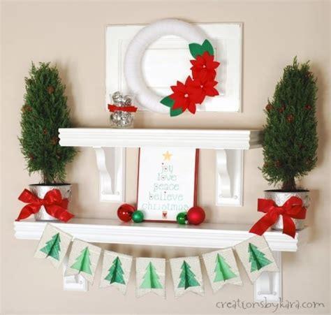 silver green  red christmas shelf decor