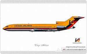 Vintage Airliners    Boeing 727    Livery Concept
