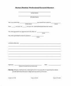 Doctors Excuse Pdf Doctors Note Template For School 6 Free Word Pdf
