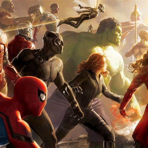 avengers infinity war team digital art hd  wallpaper
