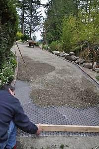 stabilisateur de gravier drainant et 100 recyclable With dalle pour allee de jardin 12 tutoriel comment installer une allee chez soi