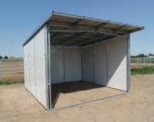 Loafing Shed Plans Goats by Noble Panels Horse Shelters And Loafing Sheds