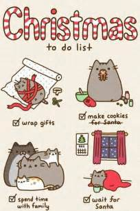 christmas to do list by pusheen pusheen the cat photo 36264318 fanpop