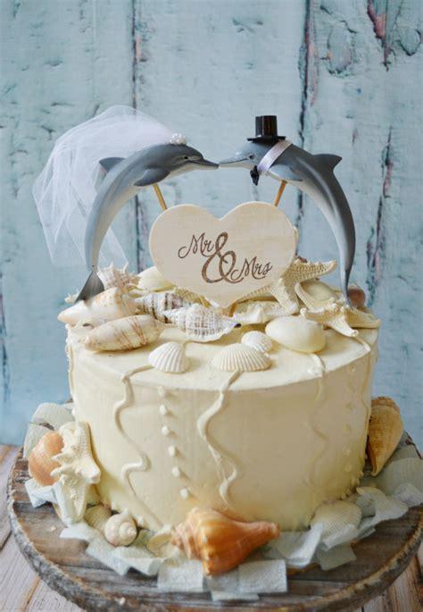 Dauphin couple wedding cake topper marsouin gâteau de mariage