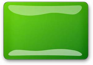 Green Glossy Rectangle Button Clip Art at Clker.com ...