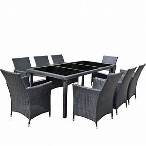 Gartenmöbel Set Ebay : gartenm bel set 8er sitzgruppe dining exclusive polyrattan schwarz asviva ebay ~ A.2002-acura-tl-radio.info Haus und Dekorationen