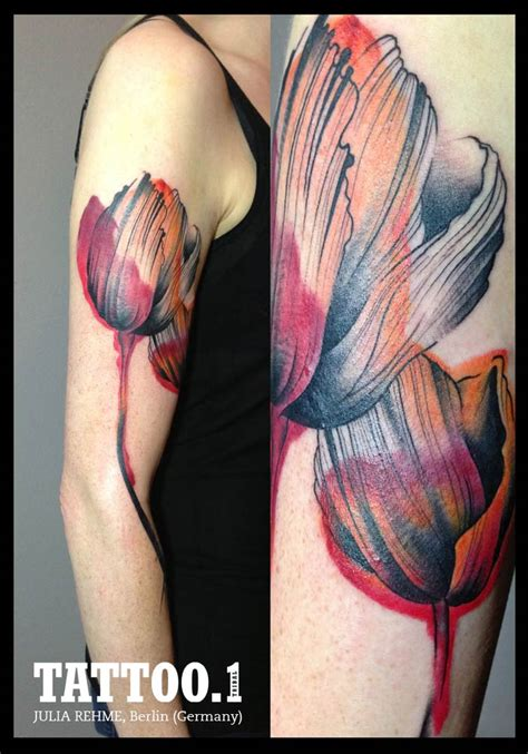 tulip tattoo images pictures  designs