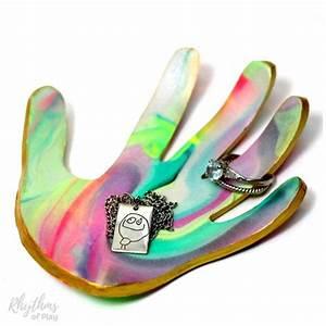 Handprint Art Jewelry Dish Keepsake Craft and Gift - VIDEO