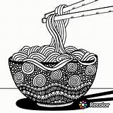 Coloring Spaghetti Noodles Drawing Pasta Meatballs Mandala Doodle Sheet Instant Zentangle Boho Drawings Epic Simple Recolor Adults Coloringpagesfortoddlers sketch template
