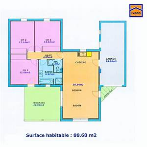 plan maison plain pied 3 chambres plan plain pied With plan maison plain pied 5 chambres