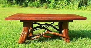 rustic coffee table handmade log cabin furniture With log cabin coffee table