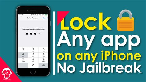 lock apps on iphone lock apps with passcode on any iphone no jailbreak 2017 Lock