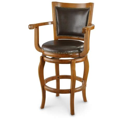 Stool With Arms Castlecreek Oversized Barstool 620070 Kitchen Dining At