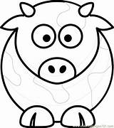 Coloring Pages Cow Face Cute Cows Printable Head Print Animals Getcolorings Adults Coloringpages101 Sheep sketch template
