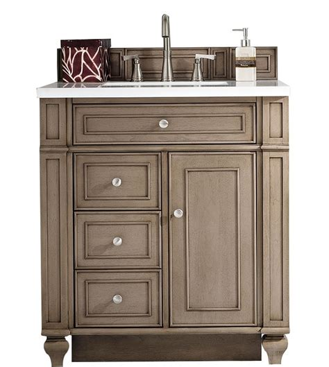 30 Bathroom Vanity With Top And Sink 30 Inch Antique Single Sink Bathroom Vanity Whitewashed