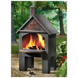 Castlecreek Cabin Cooking Steel Chiminea 281492 Fire Make a Wood Fired Oven Chimney