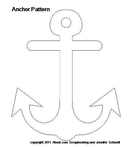 anchor template nautical theme baby scrapbook scrapbook template and