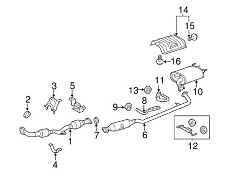 Genuine Oem Exhaust Components Parts For Toyota Camry